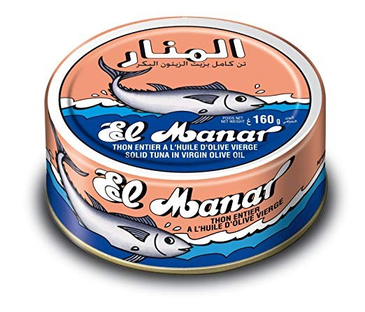 El Manar Tuna in Olive Oil 162g - 10 Cans per Pack