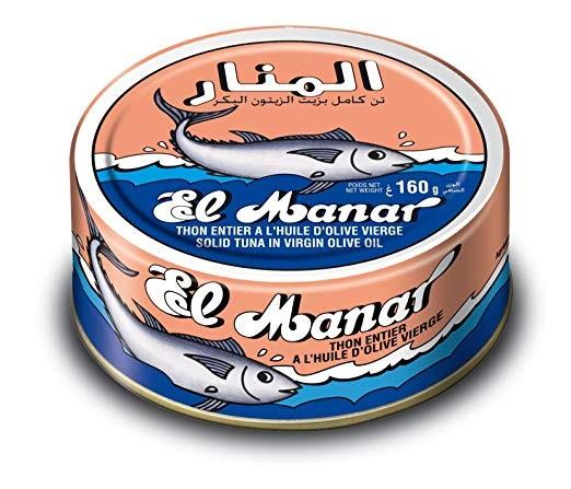 El Manar Tuna in Olive Oil 162g - 10 Cans per Pack