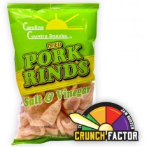 Fried Pork Rinds Salt & Vinegar 6 bags (1.75oz)